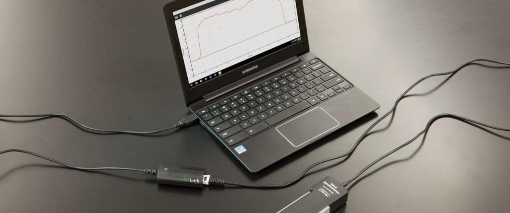 Chromebook with Go Link and Hand Dynamometer