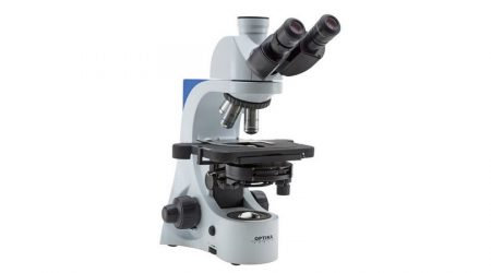 Binocular phase contrast microscope E-PLAN IOS objectives, with Automatic Light Control