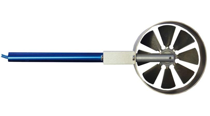 Digital Vane Anemometer Macro with Brass Head
