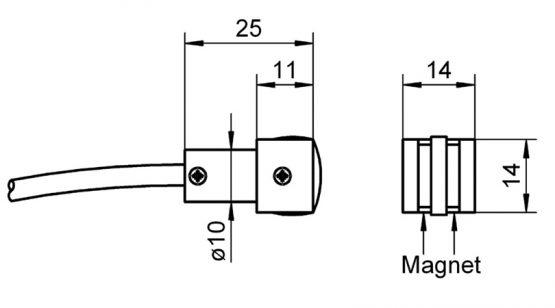 NiCr-Ni sensor FTA025P temperature magnet sensor for surface measurement