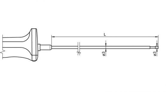 FTA122L0xxxxH NiCr-Ni Sensor for surface measurement and immersion measurement
