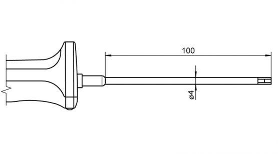 NiCr-Ni sensor with handle FTA1535L0100H temperature sensor for surface measurement