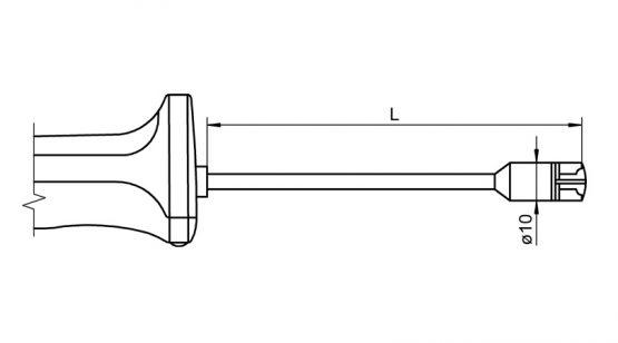 NiCr-Ni sensor with handle FTA153L0xxxH temperature sensor for surface measurement
