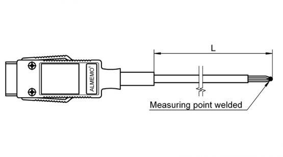 FTA3900 NiCr-Ni temperature sensor for surface measurement