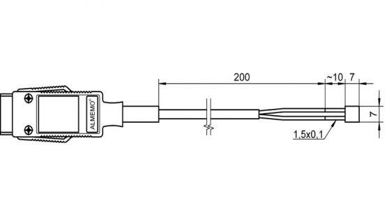 FTA683 NiCr-Ni film thermocouple temperature sensor for surface measurement