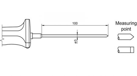 Pt100 Sensor with Handle FPA123L0100H