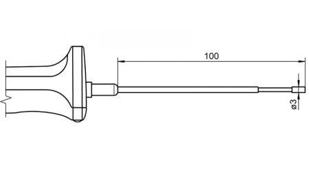 Pt100 Sensor with Handle FPA124L0100H