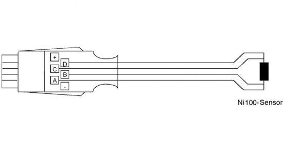 ALMEMO connector for ni100 and ni1000 sensors