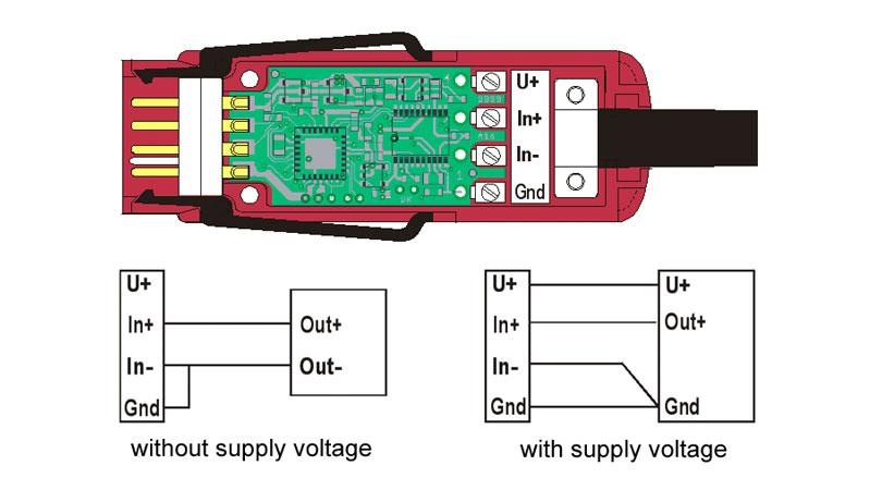 Digital Almemo D7 Connector for DC Voltage DC Current
