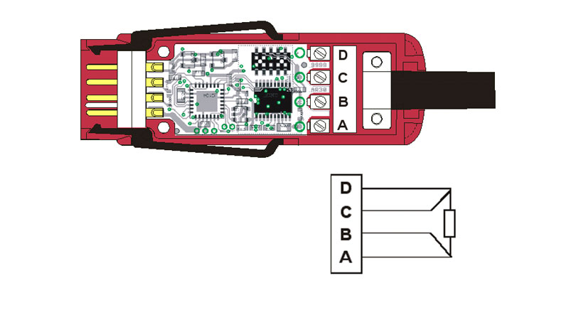 Digital Almemo D7 Connector for pt100 Temperature Sensor