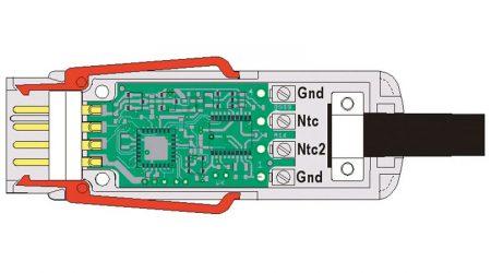 Digital Temperature Sensor with ALMEMO® D6 Measuring Connector
