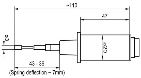 Ahlborn insertable sensor NiCr-Ni with round mounting plug T8206 FT98206