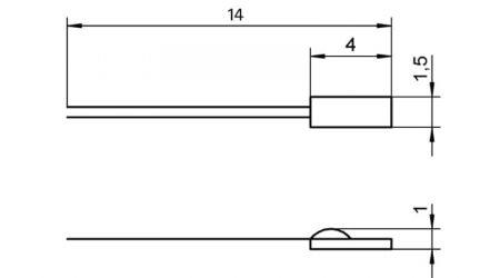 Pt100 Ceramic Chip Sensor Element FP0802