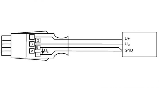 almemo connector for DC voltage difference millivolts/volt