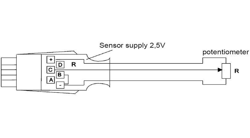 Almemo connector for potentiometer pickoffs
