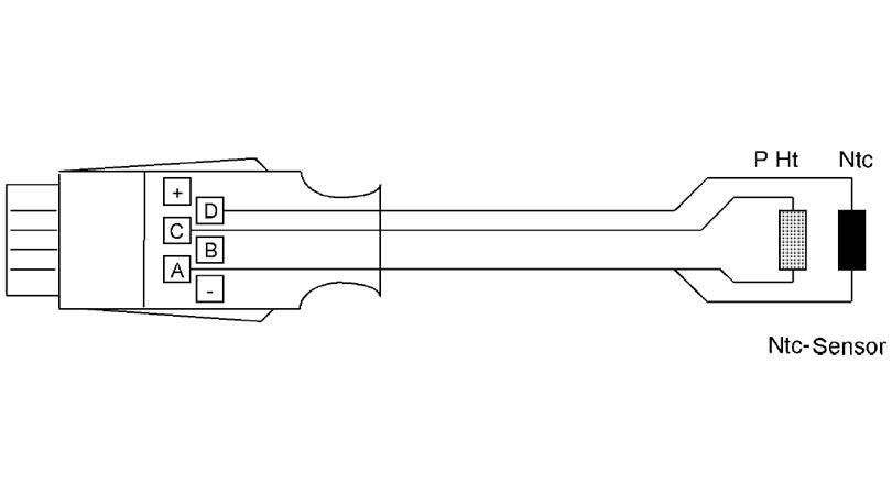 ALMEMO connector for NTC sensors