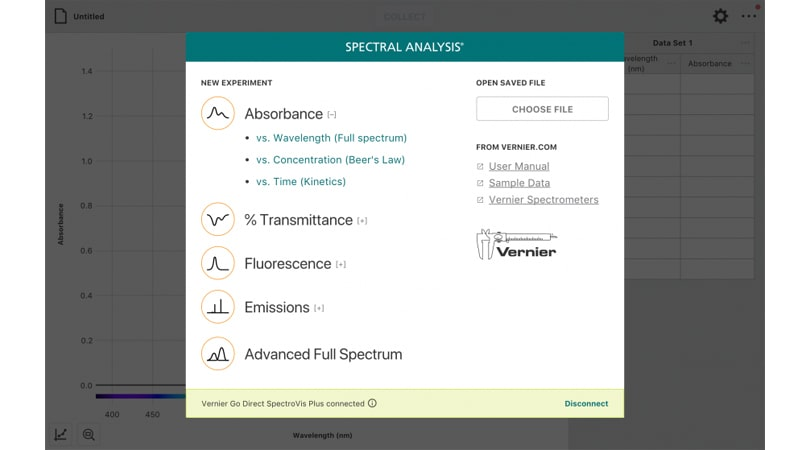 Vernier Spectral Analysis 4