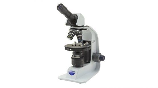 Monocular polarizing microscope; 400x; Li-ion rechargeable battery; N-PLAN objectives