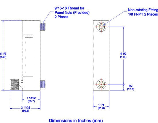 Reference Series 65mm Dimensions